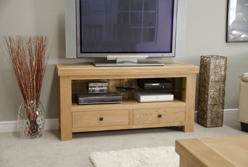 Clearance Half Price - Homestyle GB Bordeaux Oak 2 Drawer TV Unit - New - 646