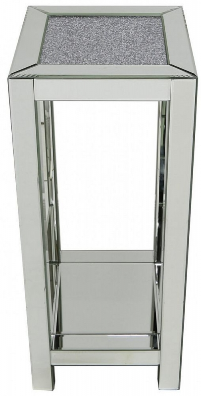 Sassari Mirrored Telephone Table
