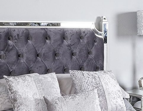 Antrim Silver Mirrored 5ft Bed