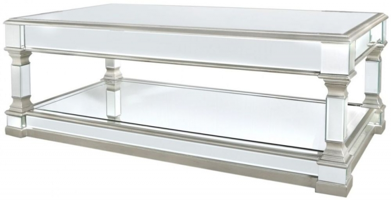 Antrim Silver Mirrored Coffee Table
