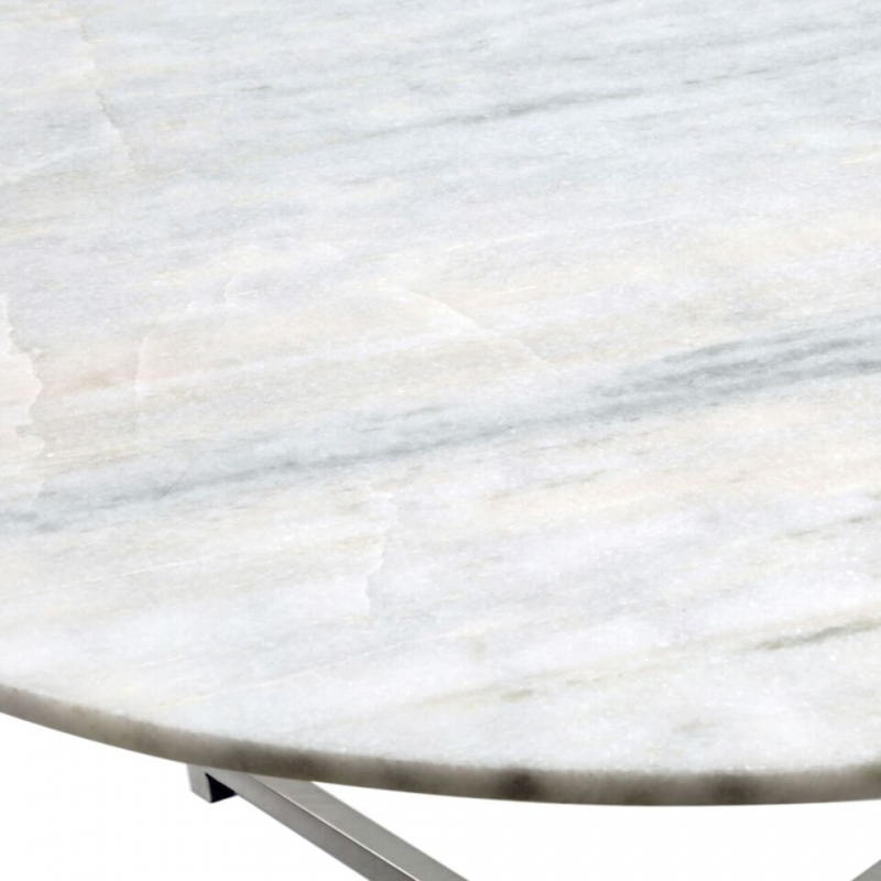 Buy Cimc Elverson White Gloss Marble Effect Round Coffee