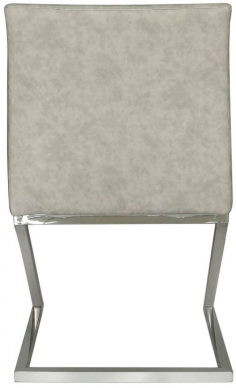 Aston Light Grey Faux Leather Dining Chair (Set of 4)