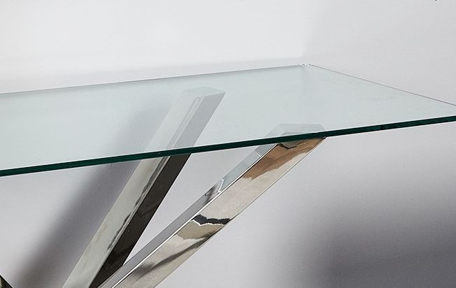 Aston Console Table - Glass and Chrome