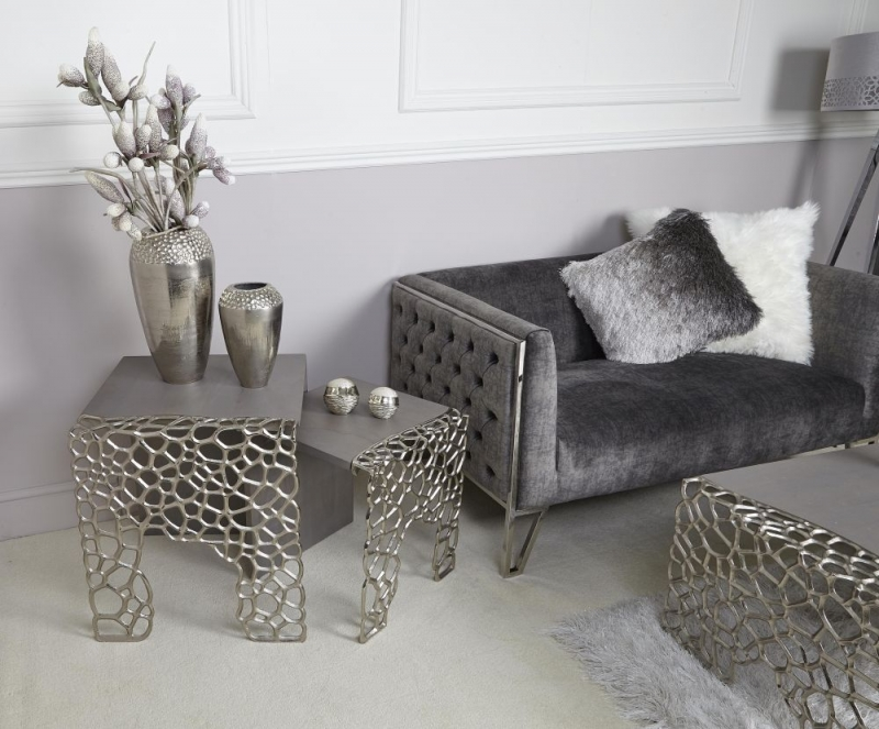 Emmaus Grey Large End Table