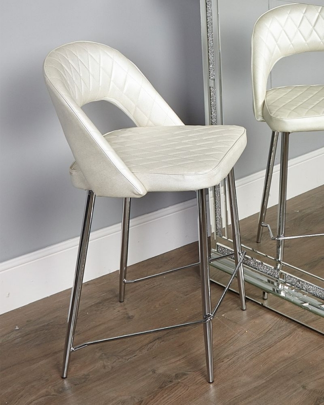 State White Bar Stool (Set of 2)