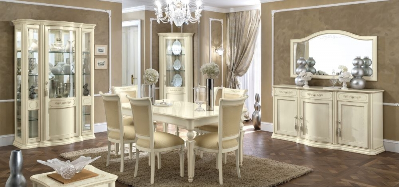 Camel Torriani Day Ivory Italian 180cm Rectangular Extending Dining Set with 6 Chairs