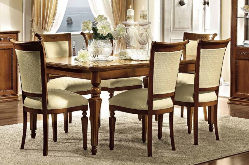 Camel Torriani Day Walnut Italian Extending Dining Table and Chairs