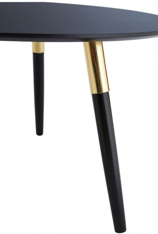 Nostra Coffee Table - Black Oak and Gold