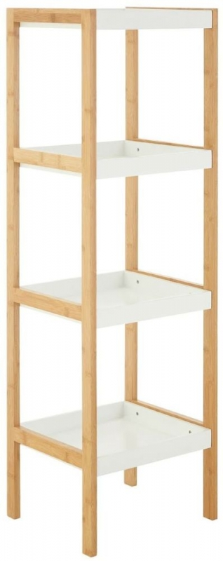 Nostra White Large Bookcase