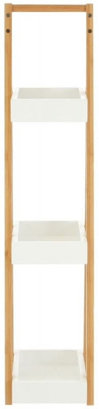 Nostra White 3 Tiers Shelf Unit