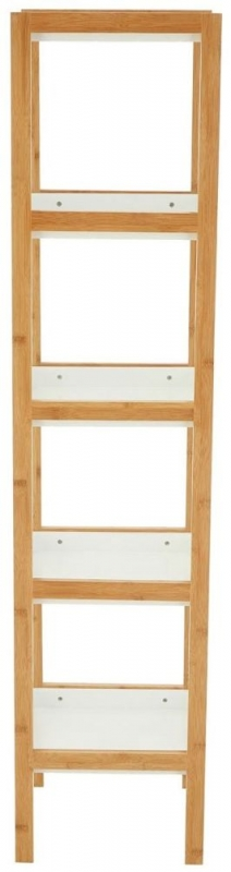 Nostra White 5 Tier Shelf Unit