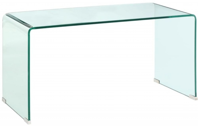Matrix Clear Bent Glass Coffee Table