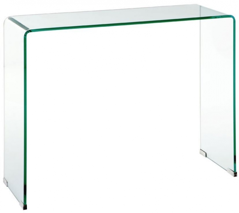 Matrix Clear Glass Console Table