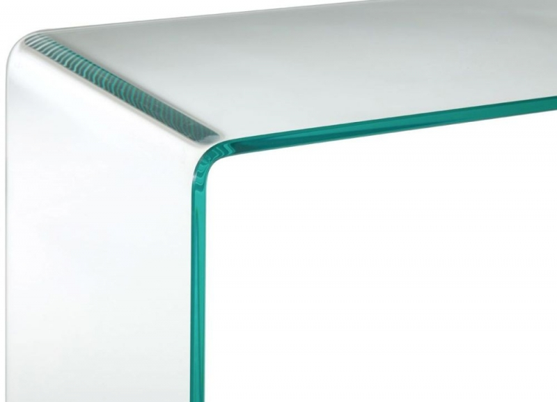 Matrix Clear Bent Glass Console Table