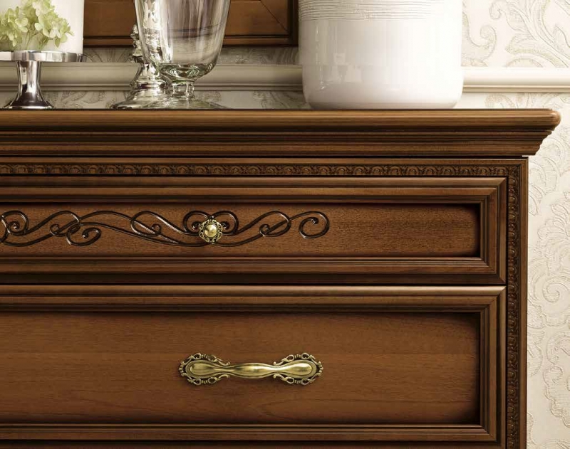Camel Torriani Night Walnut Italian Dresser