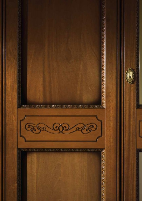 Camel Torriani Night Walnut Italian 2 Door Wardrobe