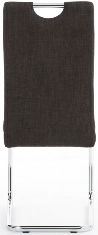 Shankar Talia Charcoal Fabric Handle Back Accent Dining Chair (pair)