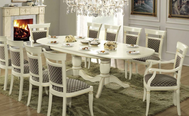 Camel Treviso Day White Ash Italian 160cm Oval Extending Dining Table