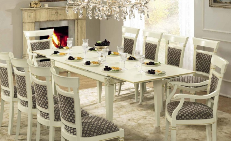 Camel Treviso Day White Ash Italian 140cm Rectangular Extending Dining Set with 4 Chair