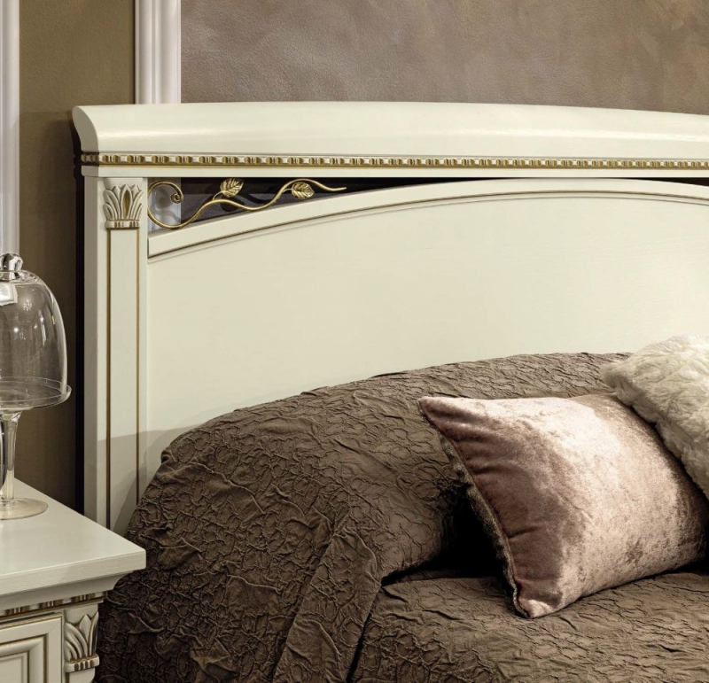 Camel Treviso Night White Ash Italian Bed with Footboard