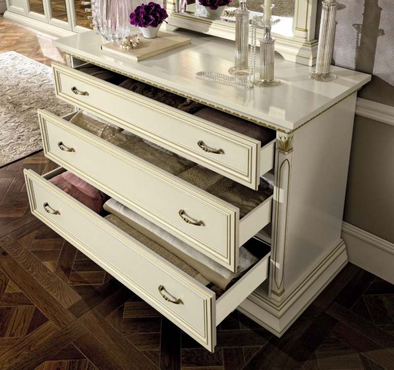 Camel Treviso Night White Ash Italian 3 Drawer Dresser