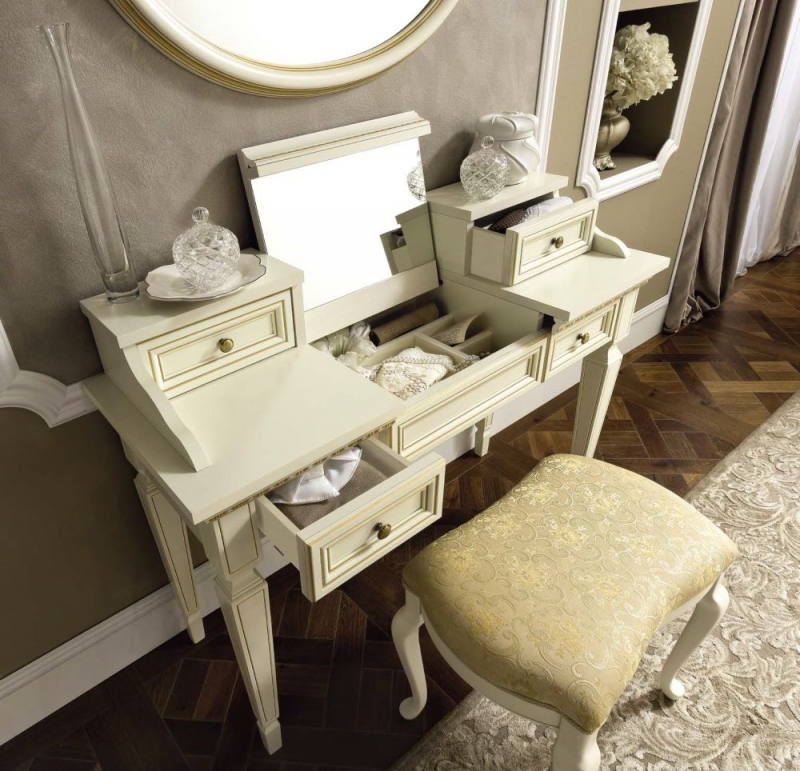 Camel Treviso Night White Ash Italian 4 Drawer Writing Desk
