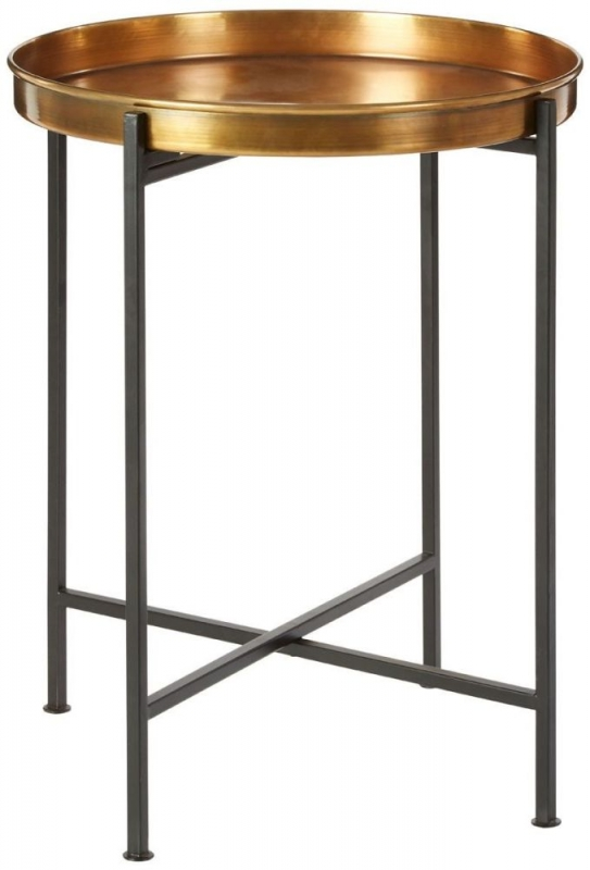 Hege Small Brass and Black Side Table