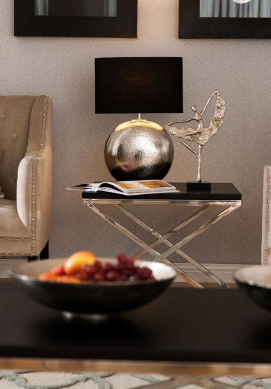 Tribute Black Criss Cross End Table