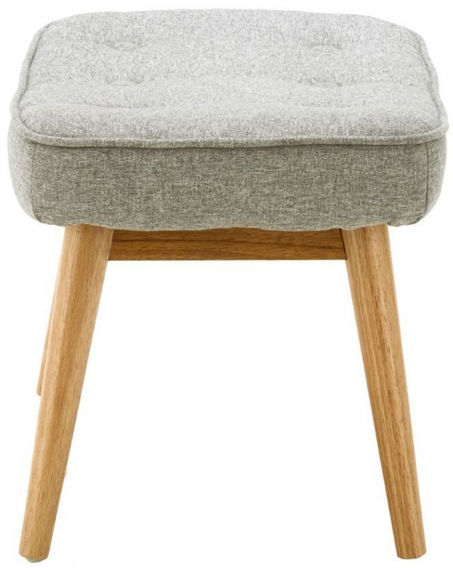 Bergen Grey Fabric Footstool