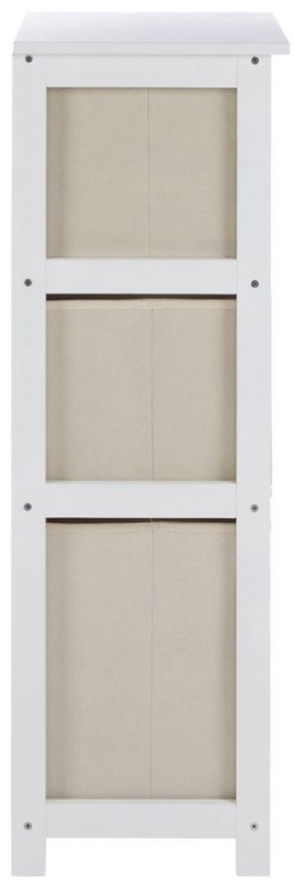 Lindo Natural Fabric 3 Drawer Cabinet