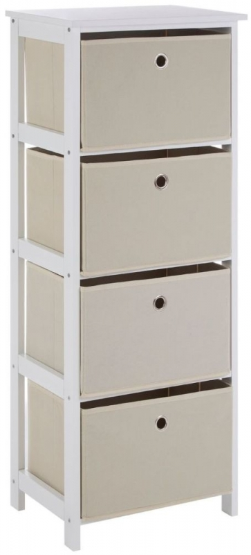 Lindo Natural Fabric 4 Drawer Chest