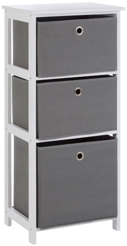 Lindo Grey Fabric 3 Drawer Chest