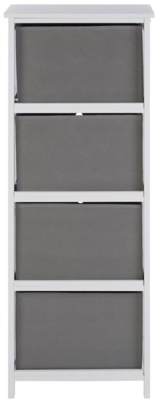 Lindo Grey Fabric 4 Drawer Chest