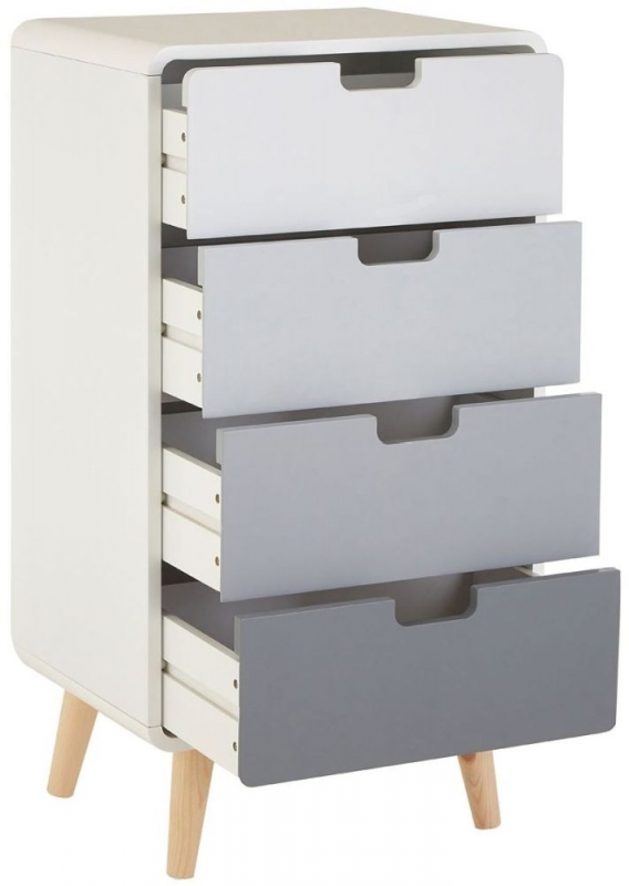 Milo White 4 Drawer Cabinet