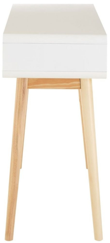 Milo White 2 Drawer Console Table