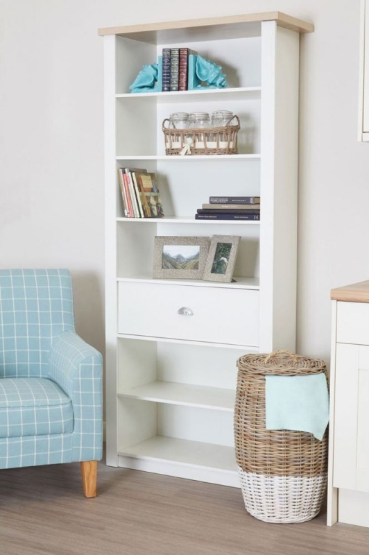 St Ives 1 Drawer Bookcase