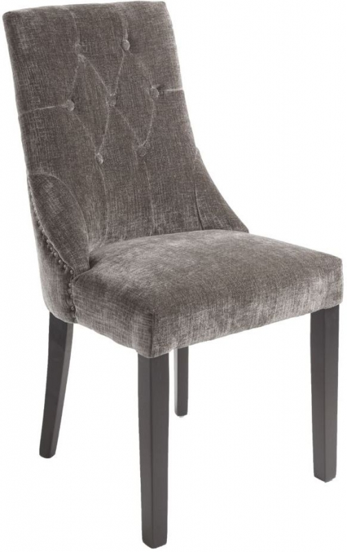 RV Astley Addie Mouse Fabric Dining Chair (Pair)