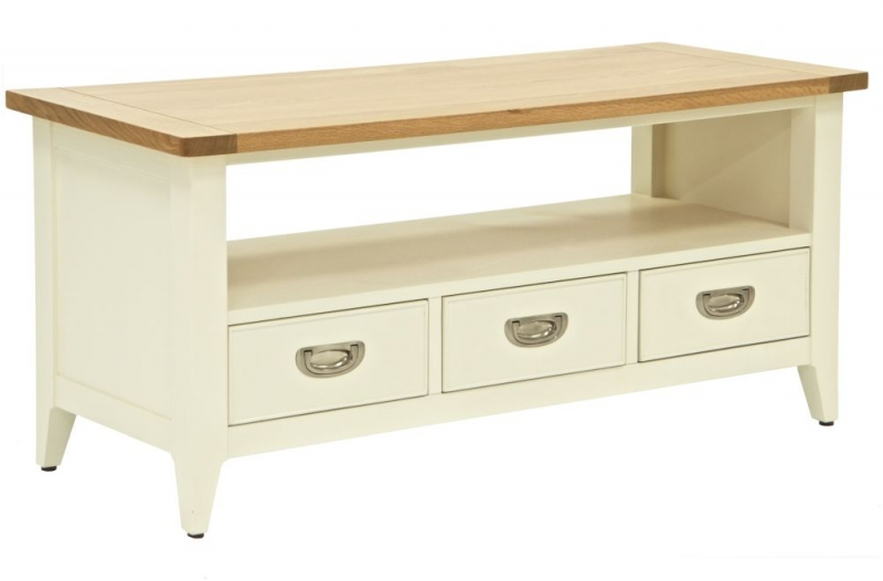 Willis and Gambier Penrose Off White Panited 2 Drawer TV Unit