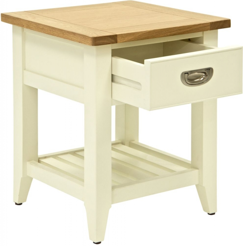 Willis and Gambier Penrose Off White Panited 1 Drawer Side Table