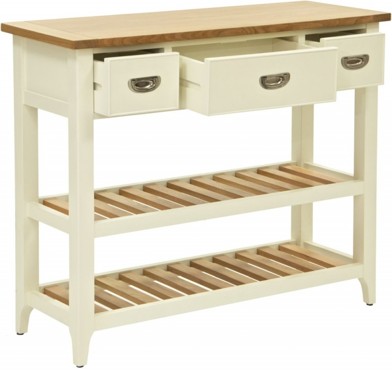 Willis and Gambier Penrose Off White Panited 3 Drawer Console Table