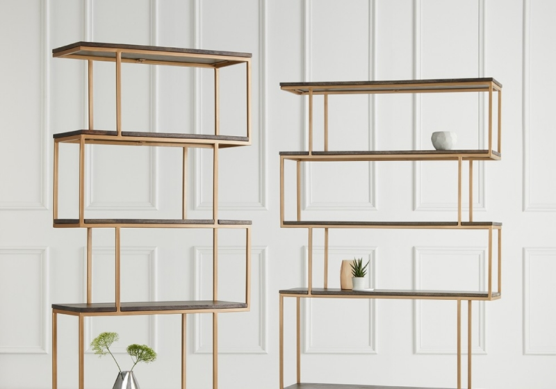 Content by Terence Conran Balance Alcove Shelving Unit - Wood and Brass