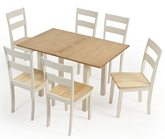 Mark Harris Hove Oak and Cream Rectangular Extending Dining Set with 2 Chichester Chairs