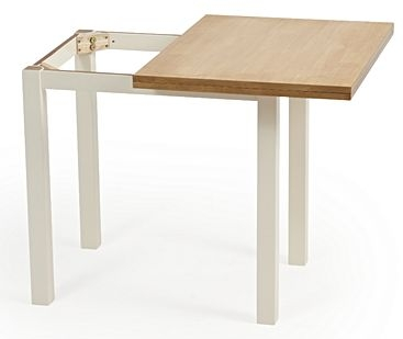 Mark Harris Hove Extending Dining Table and 2 Chichester Chairs - Oak and Cream