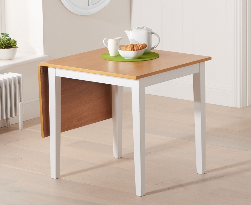 Mark Harris Mara Oak and White Rectangular Extending Dining Table