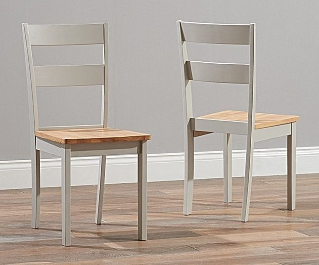 Mark Harris Mara Extending Dining Table and 2 Chichester Chairs - Oak and Grey