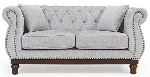 Mark Harris Highgrove Grey Plush Fabric 2 Seater Sofa