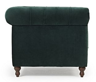 Mark Harris Montrose Green Plush Fabric Armchair