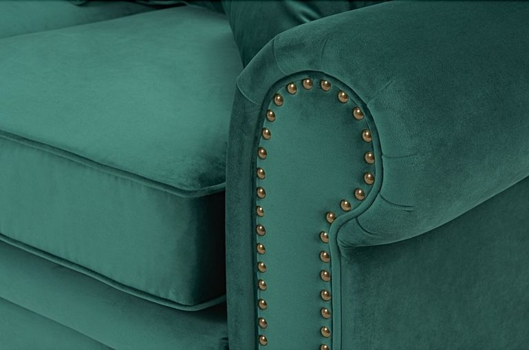 Mark Harris Ellie Green Velvet 3 Seater Sofa