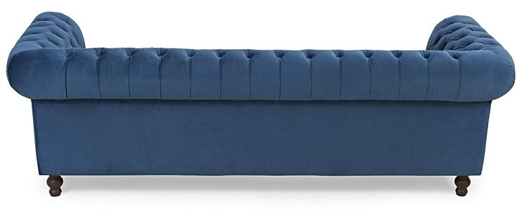 Mark Harris Camara Chesterfield Blue Velvet 3 Seater Sofa