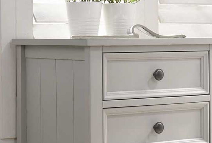 Vida Living Mila Clay Painted Bedside Cabinet